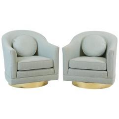 Swivel Chairs For Sale Desk Chair Vinyl Blue Harvey Probber At 1stdibs