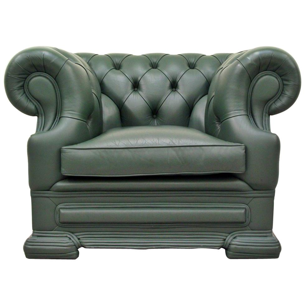 wing chair recliner leather build a chesterfield armchair antique for sale