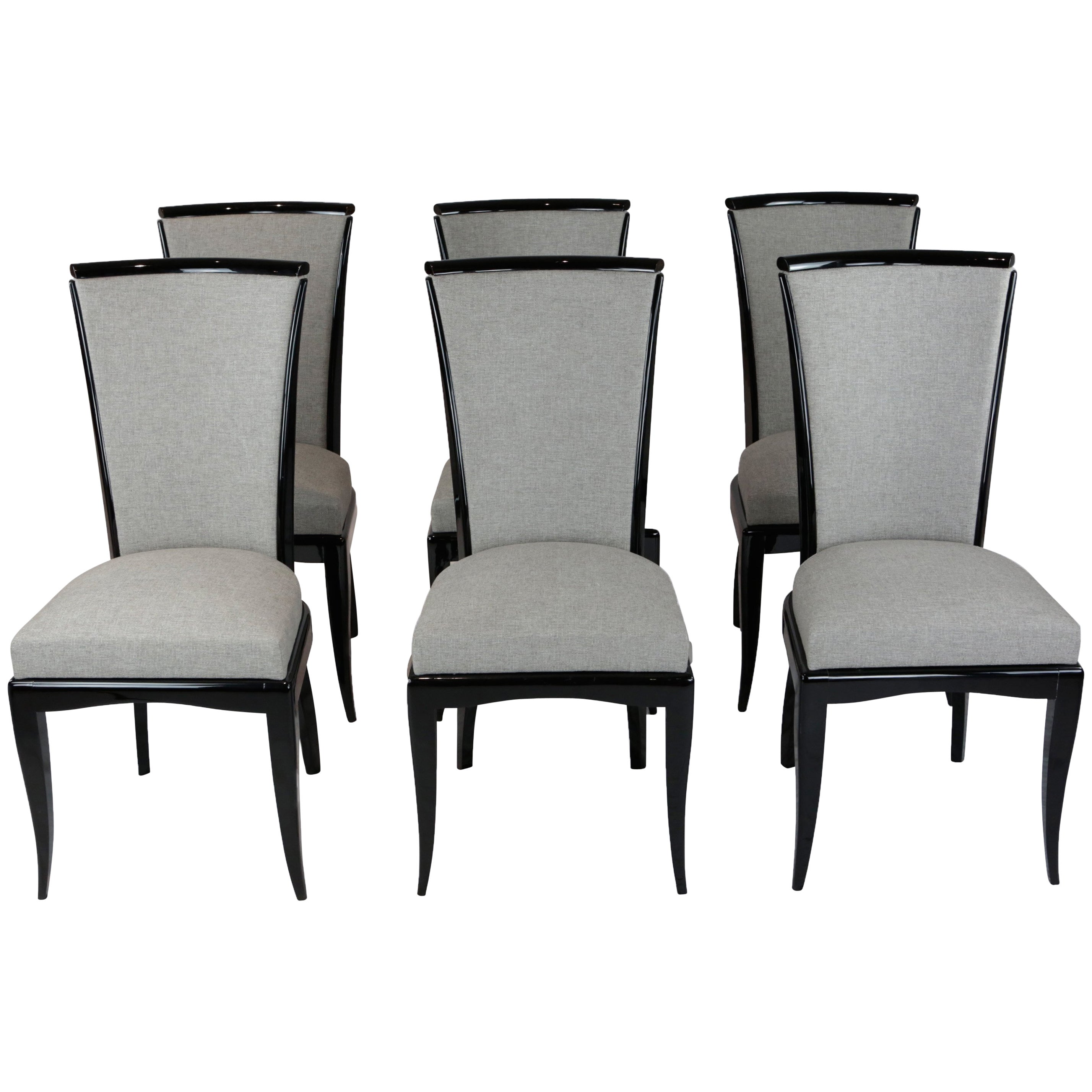 Art Deco Dining Chairs Set Of Six Art Deco Dining Chairs France Circa 1930