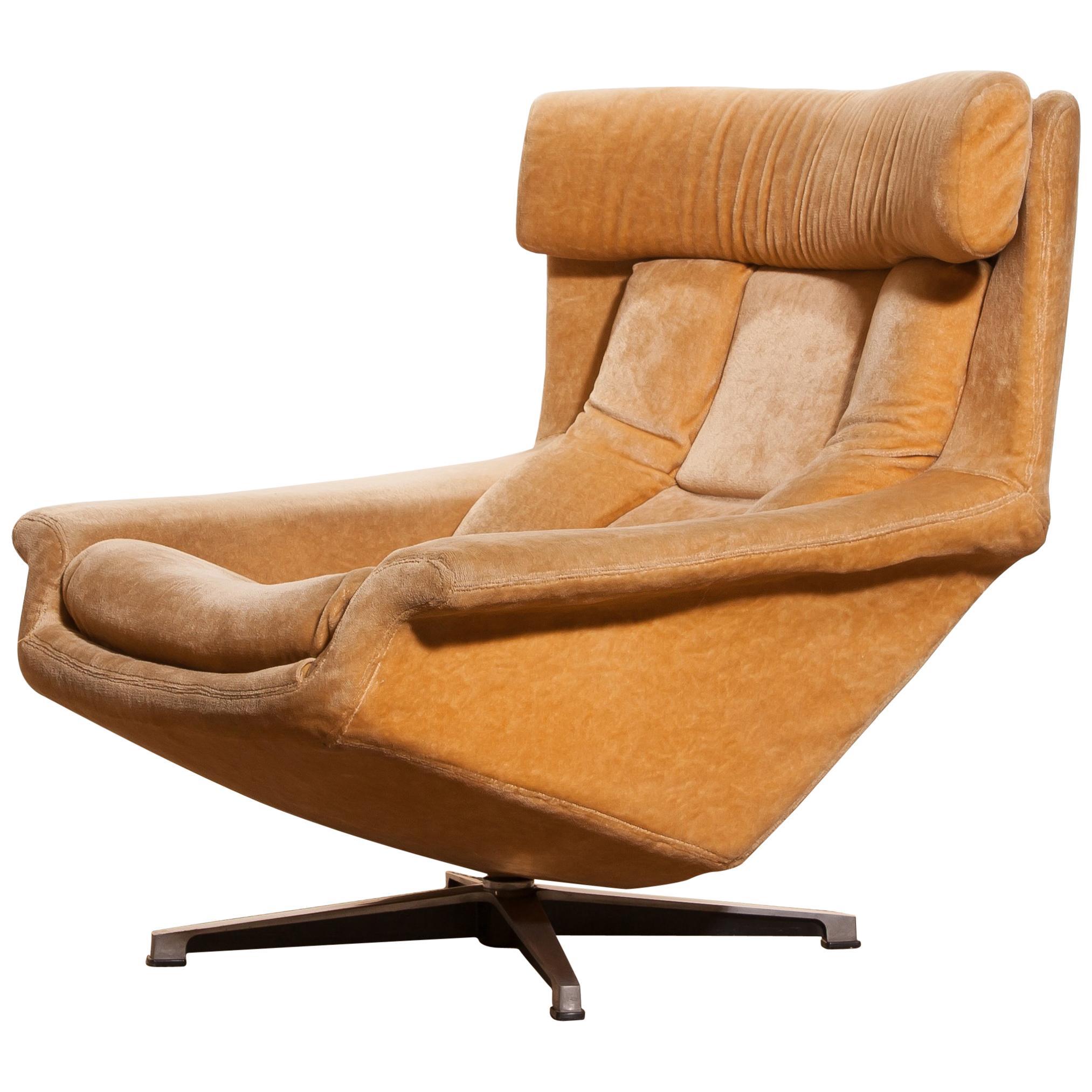 ab swivel chair dining room chairs home goods 1960s velvet lounge bamse by bra bohag sweden for