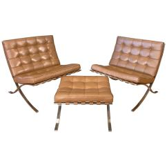 Barcelona Chairs For Sale Butterfly Chair Covers Auckland Vintage Mies Van Der Rohe Knoll And Ottoman Set