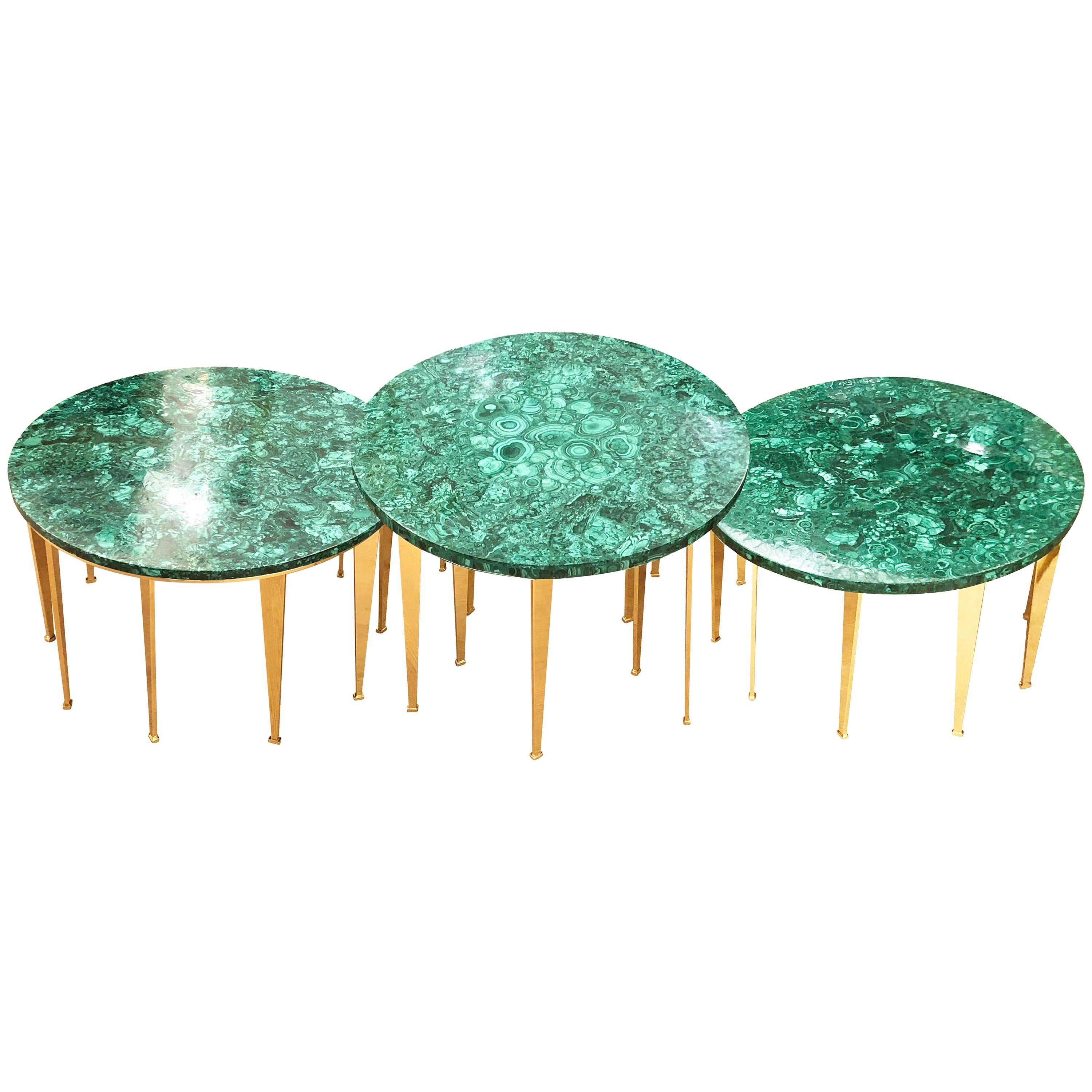 Malachite Coffee Table or Side Tables by Forma for Gaspare