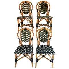 Parisian Cafe Table And Chairs Tub With Casters French Style Bistro Rattan Dining For Sale At