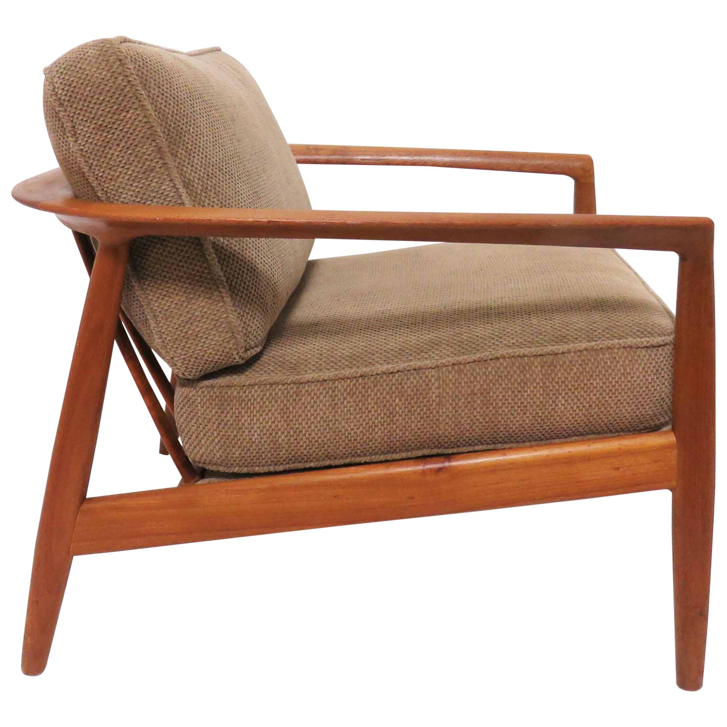 Danish Modern Lounge Chair Folke Ohlsson For Dux Danish Modern Teak Lounge Chair Circa 1960s