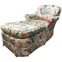 Tropical Print Chaise Lounge by Baker For Sale at 1stdibs