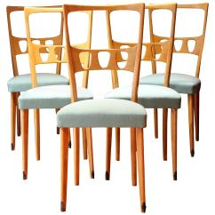 Dining Chairs Italian Design Chivari Chair Rental Five Mid Century Modern Wood And Upholster For Sale