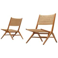 Folding Chairs Wooden Fold Out Lounge Chair 58 For Sale On 1stdibs French Slipper With Woven Seat