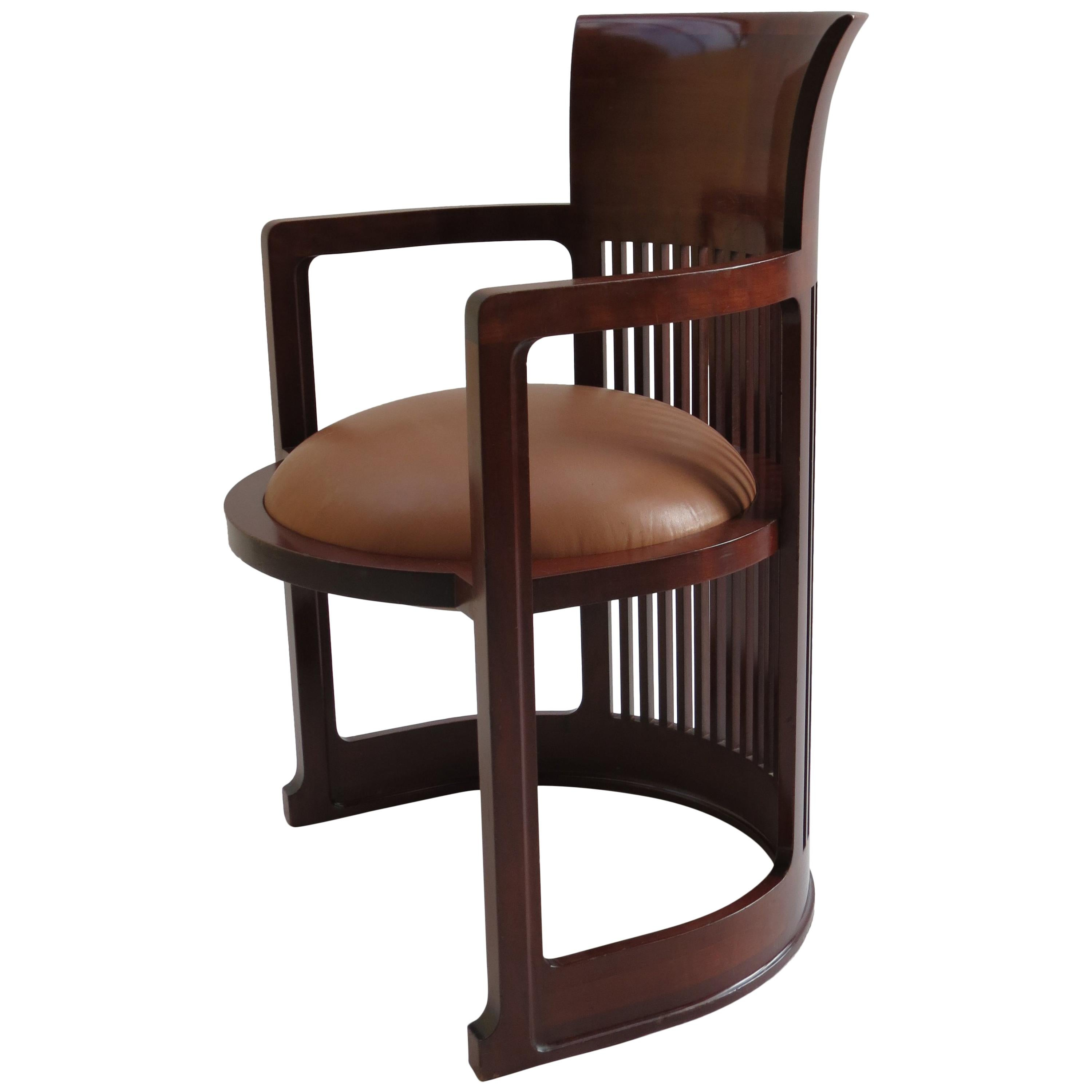 frank lloyd wright chairs heywood wakefield 1980s cassina barrel taliesin chair designed by cherrywood for sale