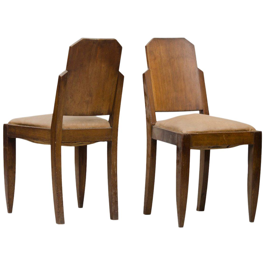 Art Deco Dining Chairs Art Deco Dining Chairs Set Of Four