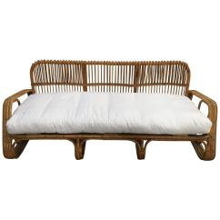 Modern Twine Curved Arm Sofa Smart Covers Bamboo Sofas 29 For Sale At 1stdibs Mid Century Italian Three Seat 1960s