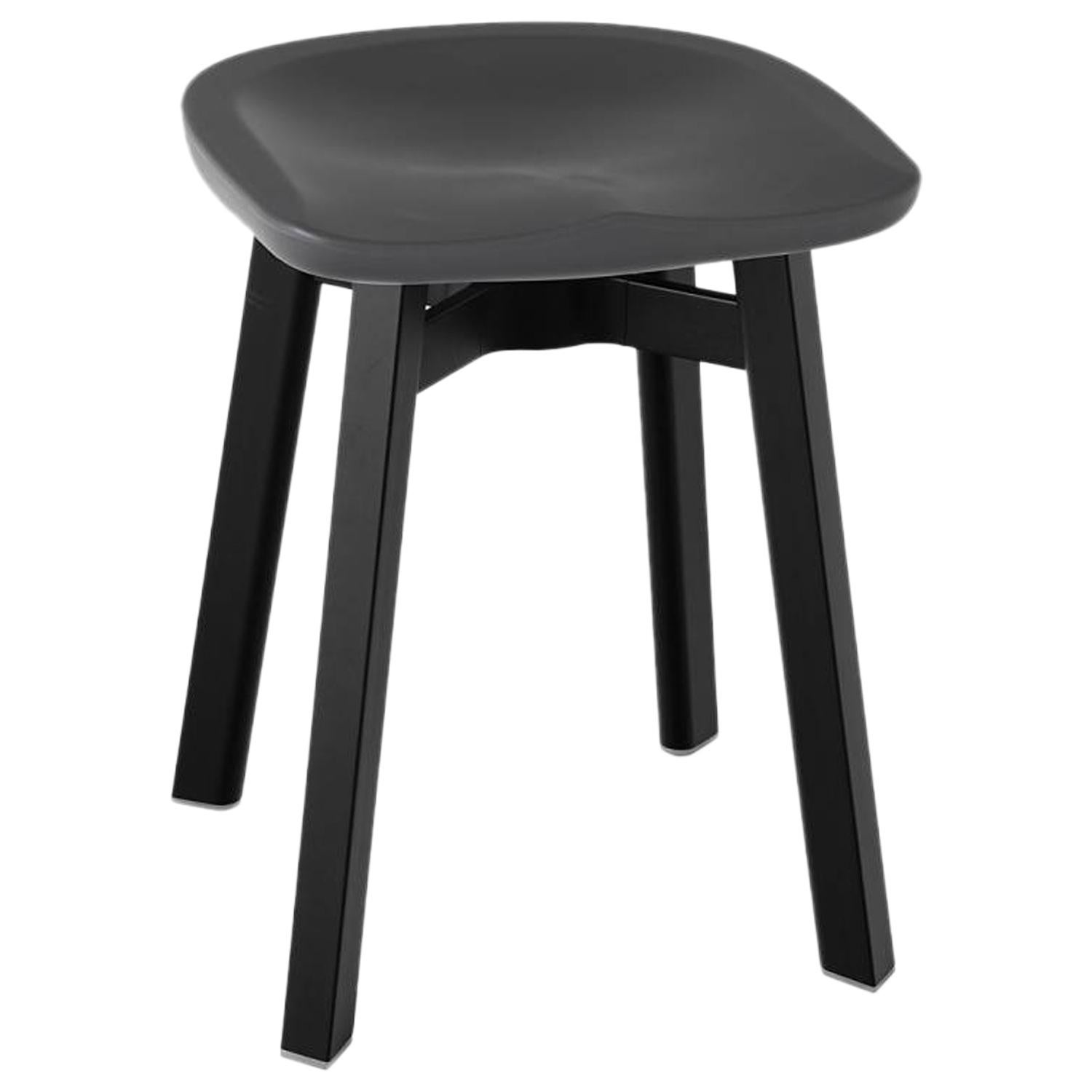 Small Stool Chair Emeco Su Small Stool In Black Aluminum With Charcoal Seat By Nendo