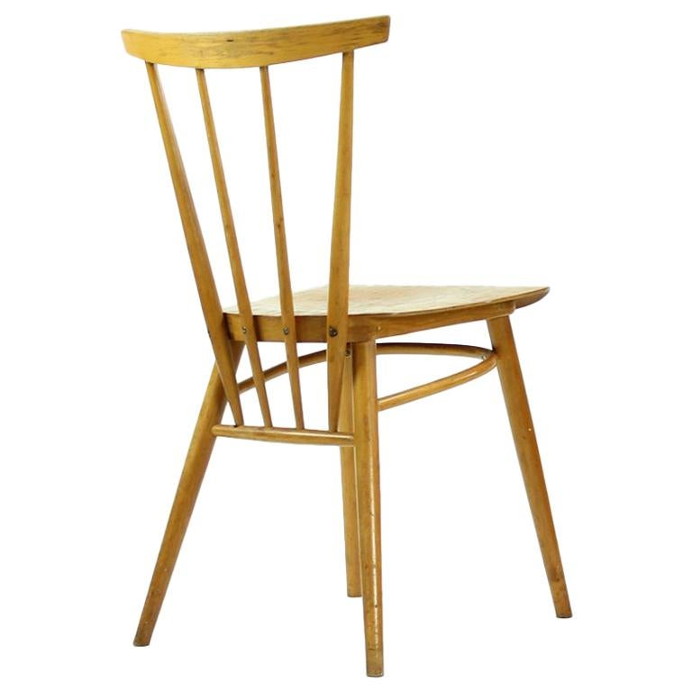 Kitchen Chairs Wood Ton Kitchen Chairs In Blond Wood Finish Czechoslovakia Circa 1960