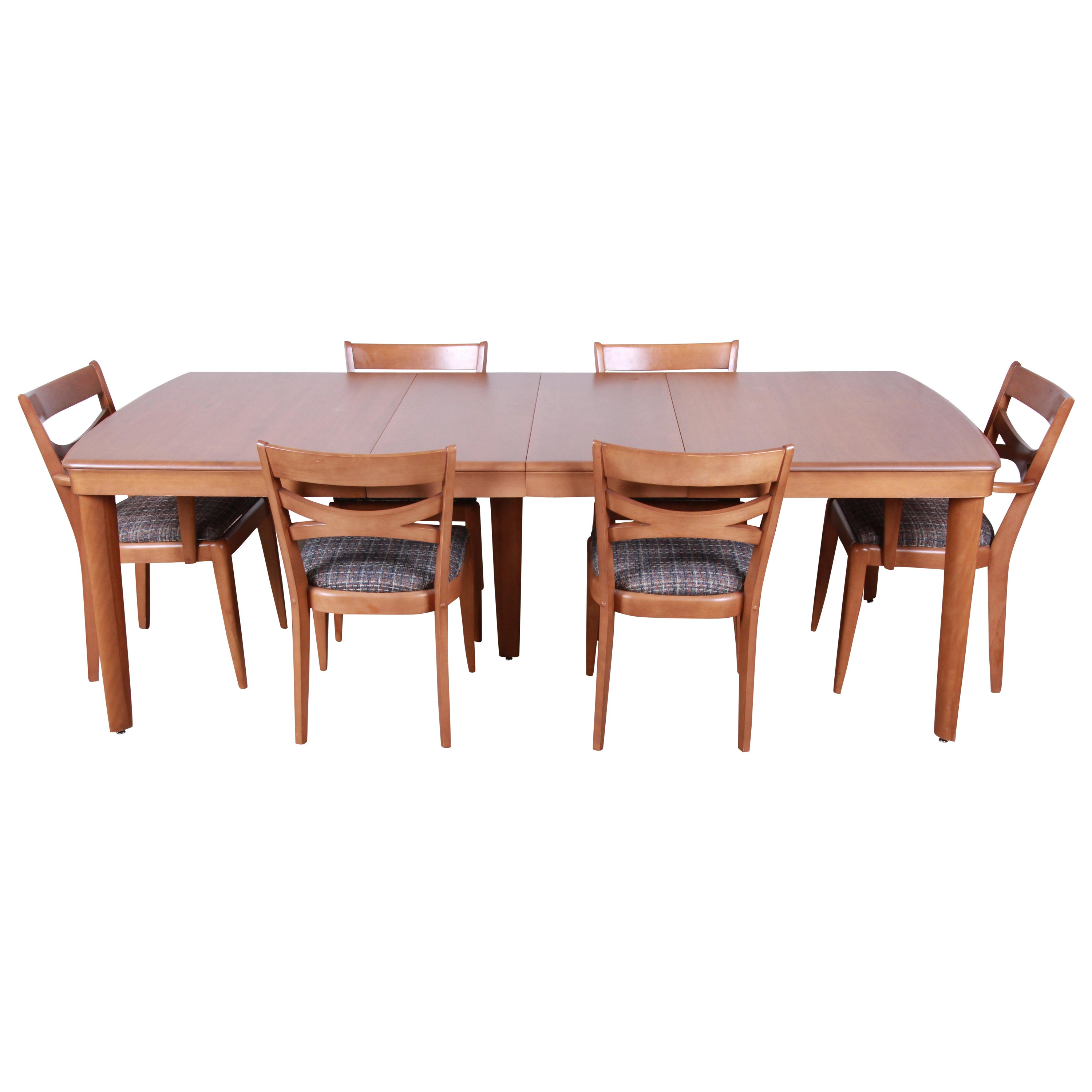 Heywood Wakefield Dining Chairs Heywood Wakefield Mid Century Modern Extension Dining Table And Chairs