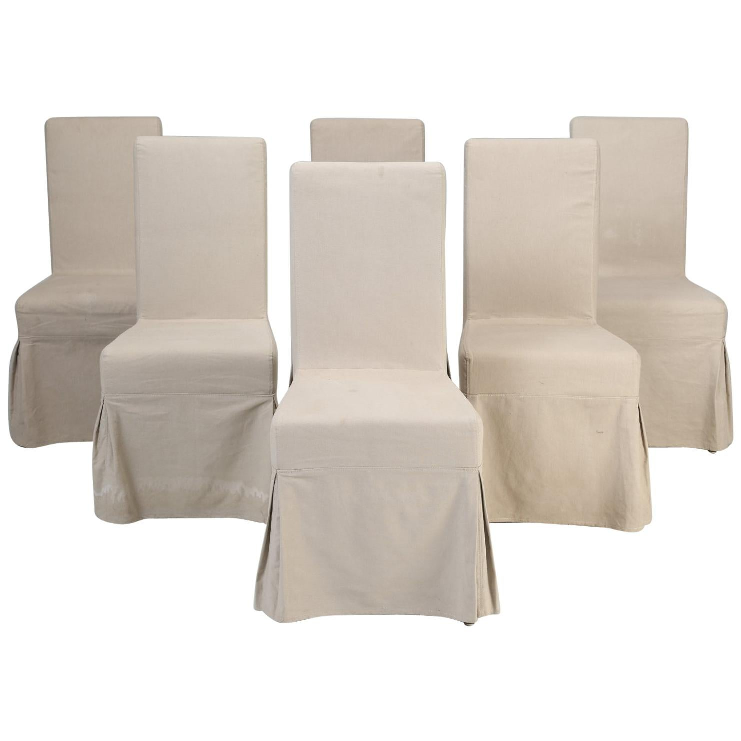 Slip Covers For Chairs Set Of 6 Slip Cover Chairs