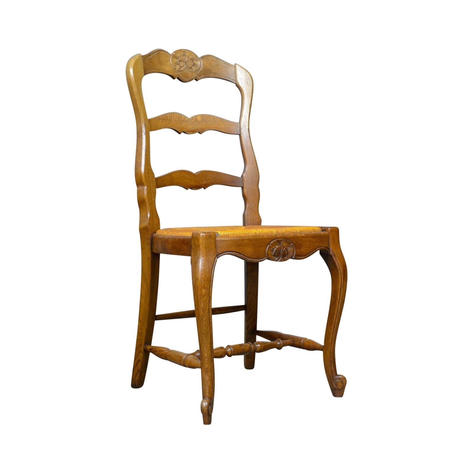 Country Kitchen Chairs Set Of Four French Antique Dining Chairs Country Kitchen Oak Rush Circa 1930