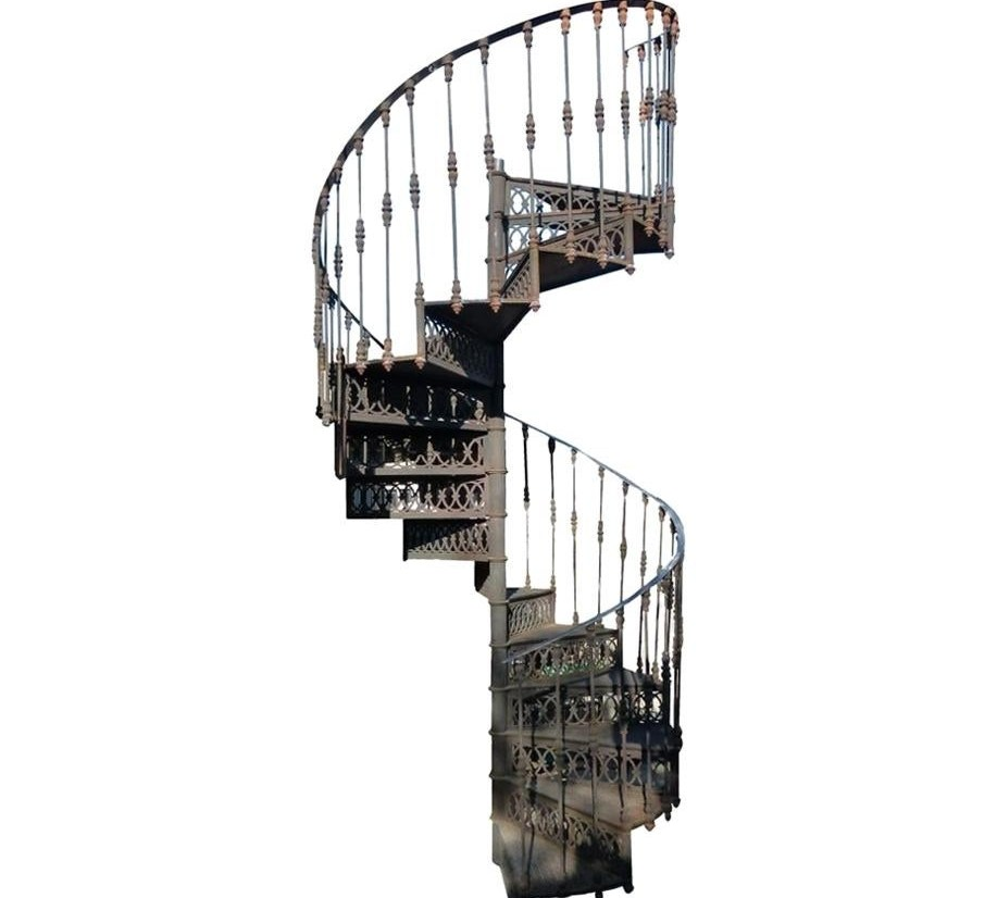 20Th Century Art Nouveau Style Cast Iron Spiral Staircase From   Steel Spiral Staircase For Sale   Wrought Iron   Staircase Design   Kits   Cast Iron   Stair Handrail