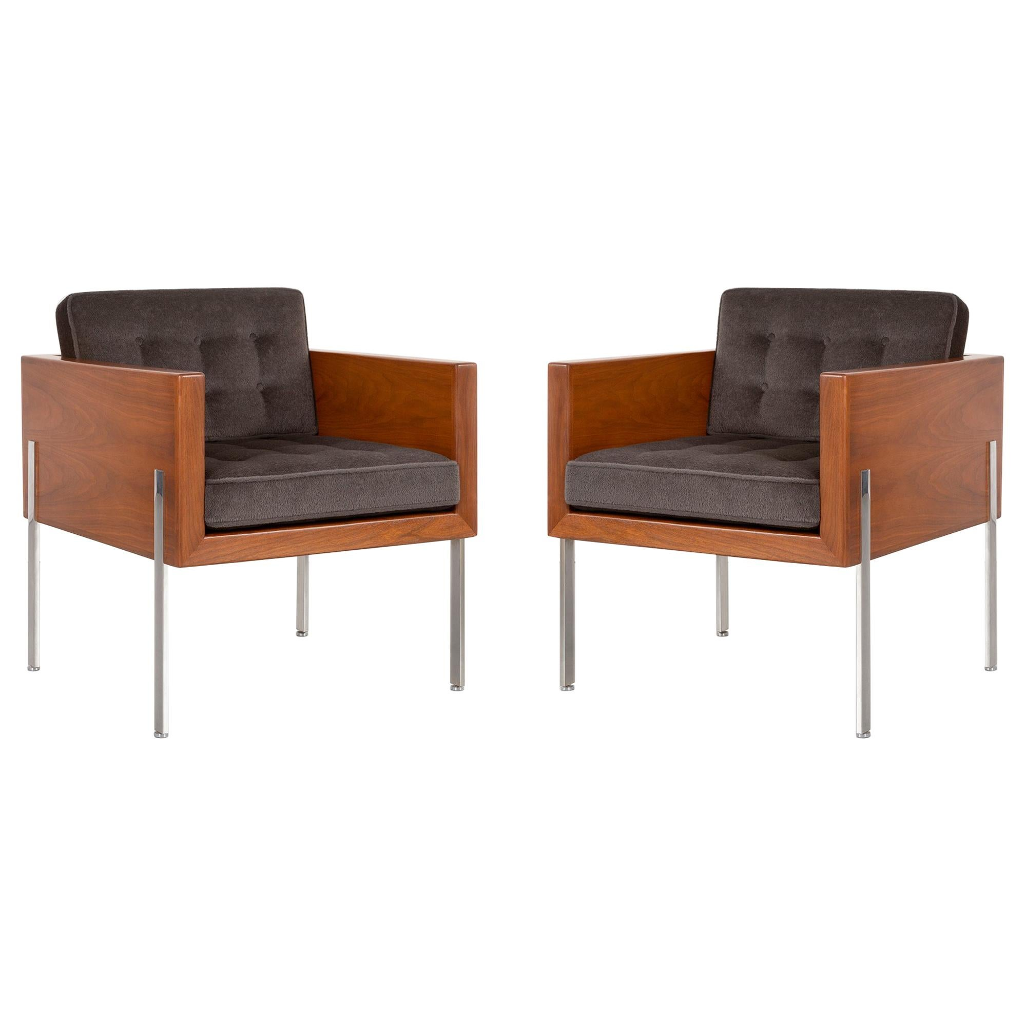 Cube Chairs Pair Of Mid Century Modern Harvey Probber Architectural Series Cube Chairs