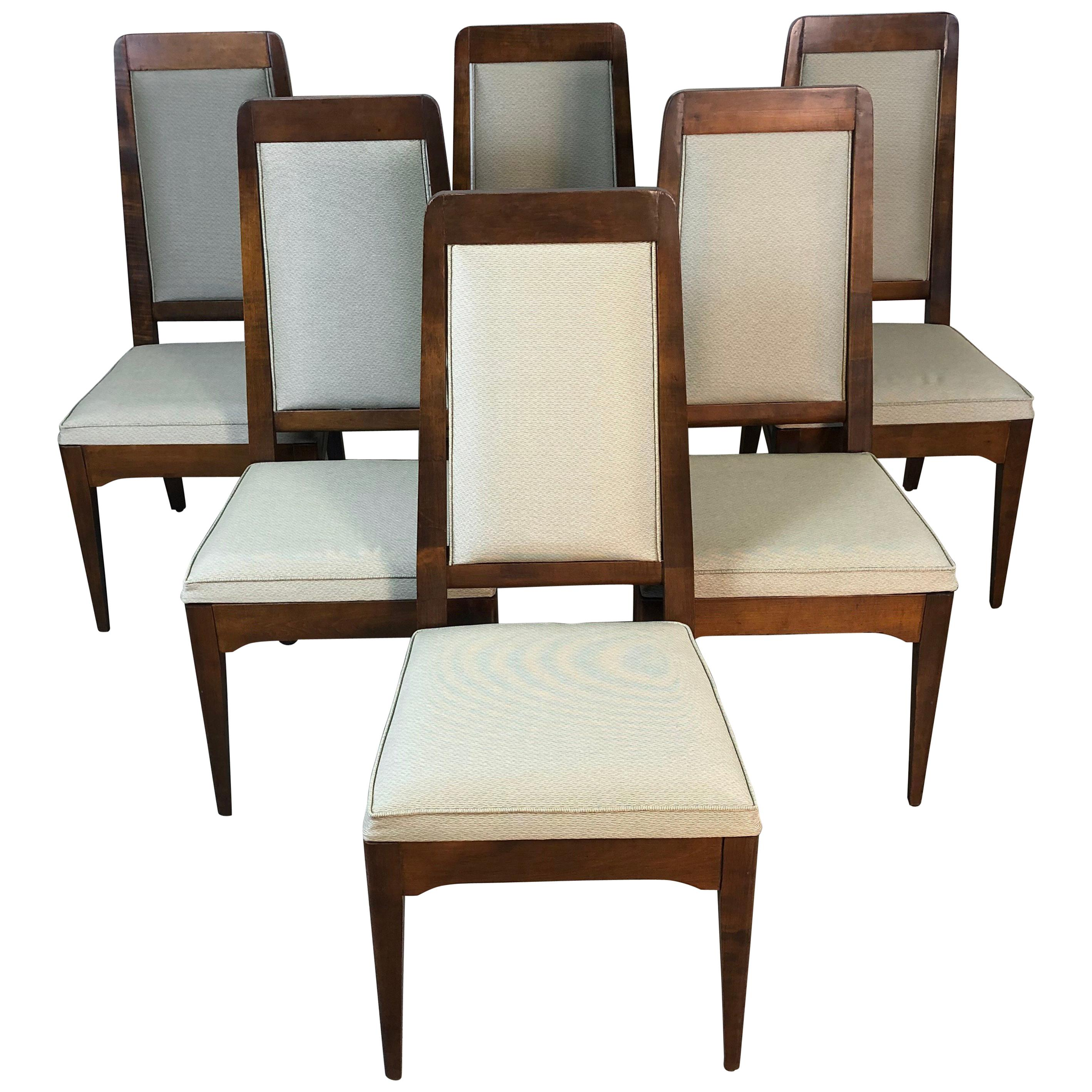 Dining Chair Set Of 6 1960s Maple High Back Dining Chairs Set Of 6