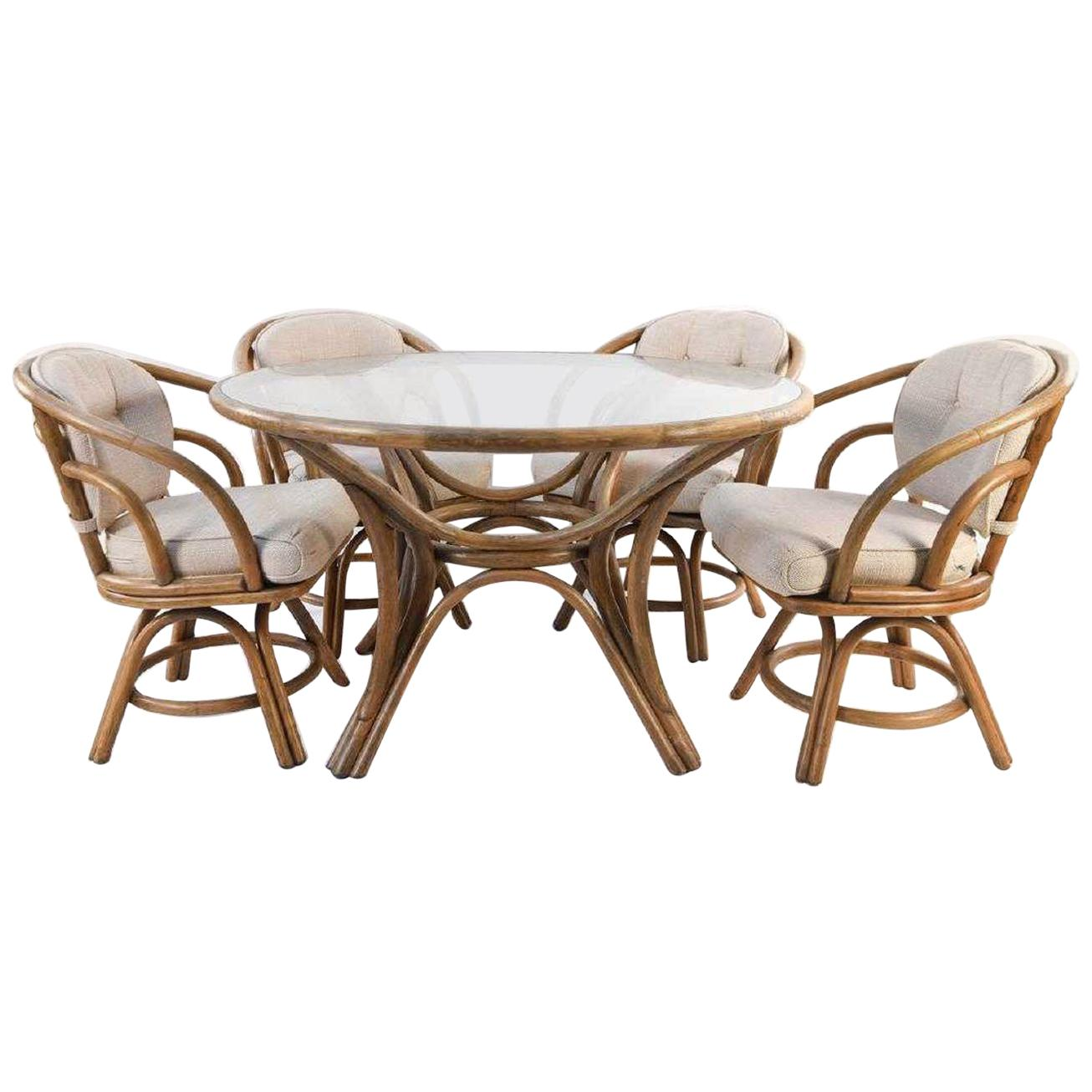 Outdoor Table And Chair Set Brown Jordan Bentwood Rattan Table And Chairs Set