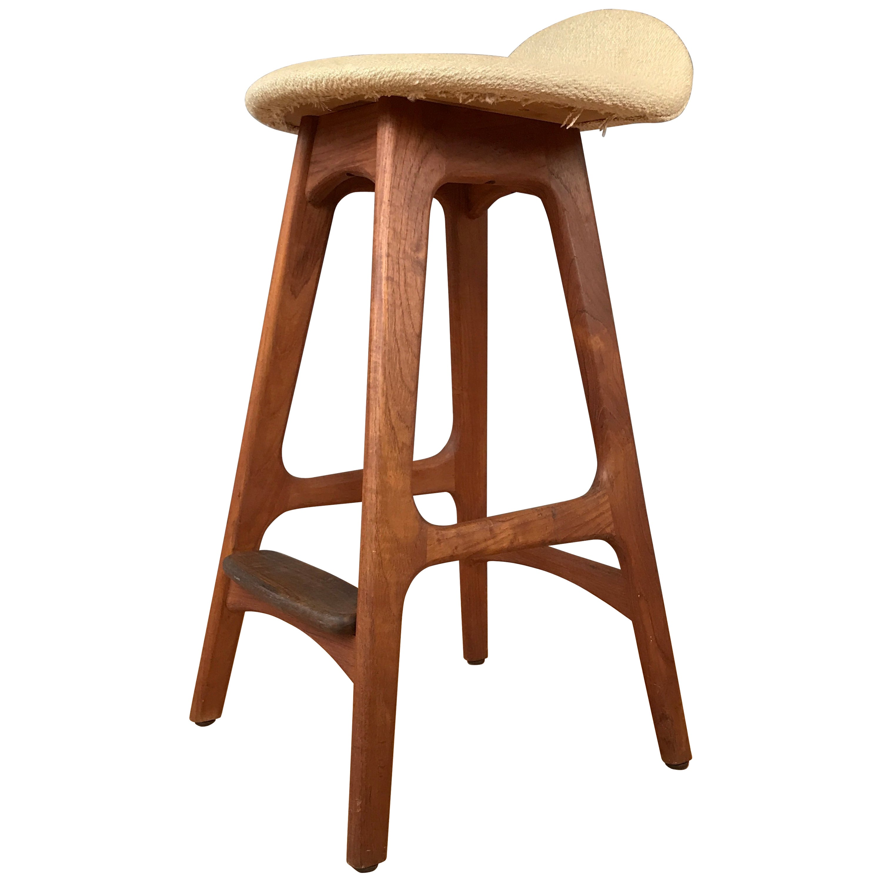 Counter Height Chairs With Arms Teak Counter Height Stool Designed By Erick Buck