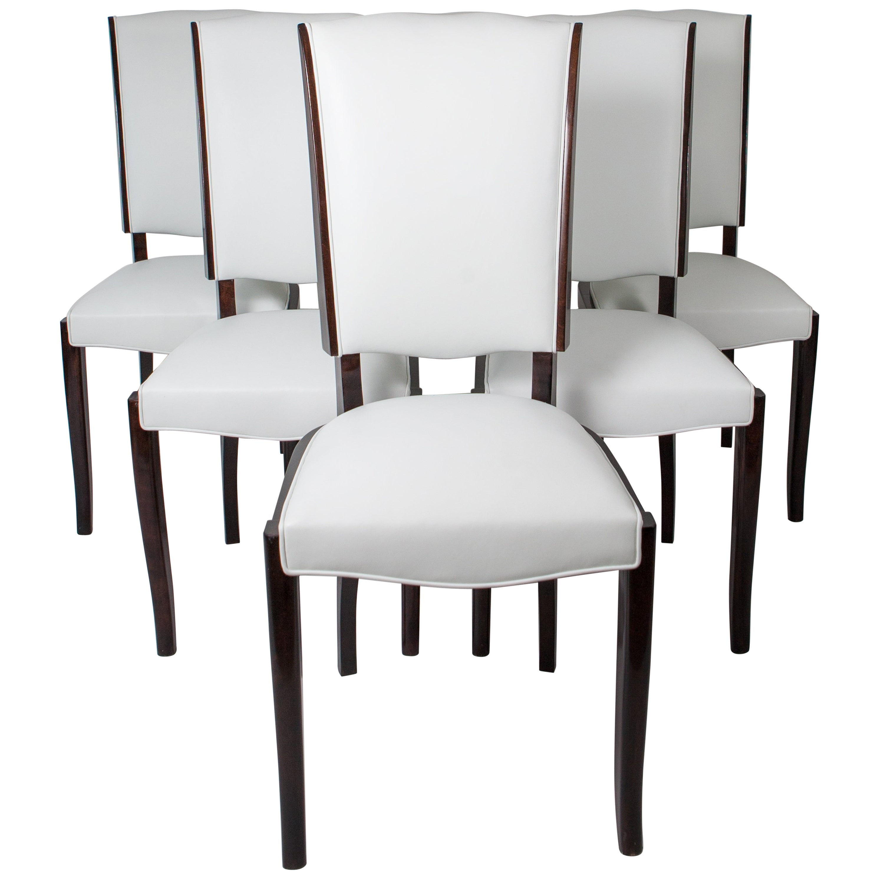 Art Deco Dining Chairs Six French Rosewood Art Deco Dining Chairs