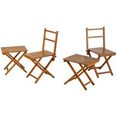 Wooden Folding Chairs For Sale Dining Room Chair Covers Big W Set Of Two And Stools Dutch 1950s
