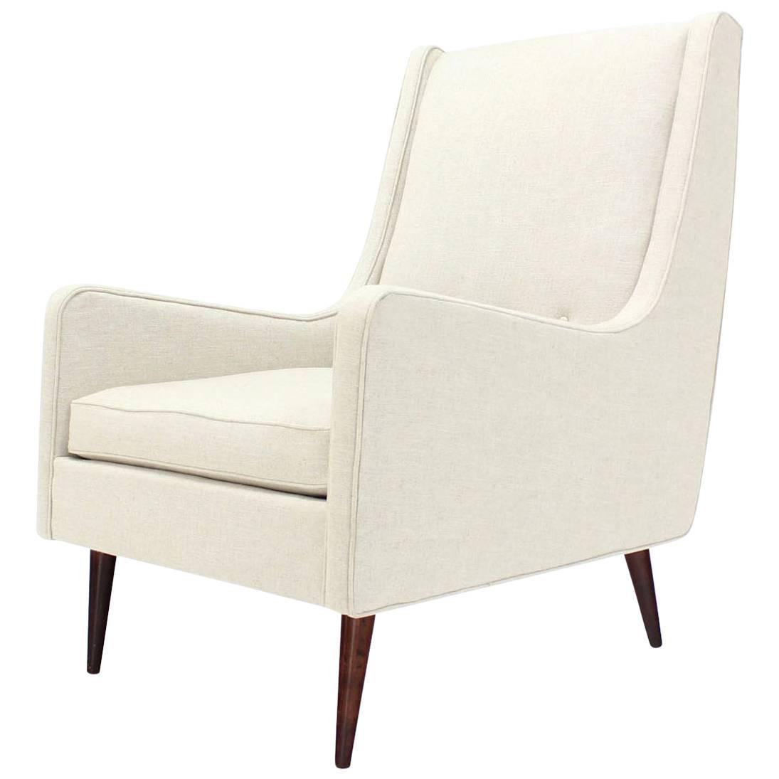 white linen chair covers for sale dog high new upholstery mid century modern lounge
