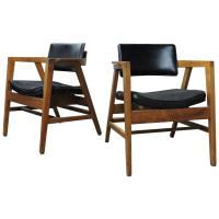 Mid-20th Century American Modern Lounge Chairs by Gunlocke ...