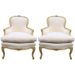 French Louis Chair Hanging For Room Pair Of Xv Style Bergere Chairs Sale At