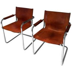 Mart Stam Chair Dorothy Draper Chairs Pair Of Style Cantilevered Leather And Chrome