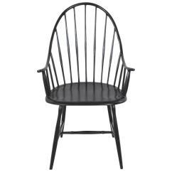 Metal Armchair Wicker Swing Chair Powder Coated Black Windsor At 1stdibs For Sale