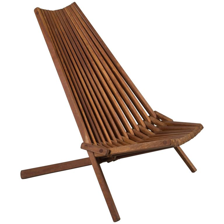 teak folding chair covers quality mid century at 1stdibs for sale