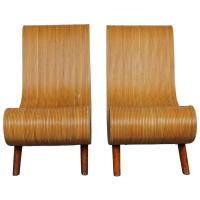 Unique Pair of Mid-Century Modern Bamboo Chairs at 1stdibs