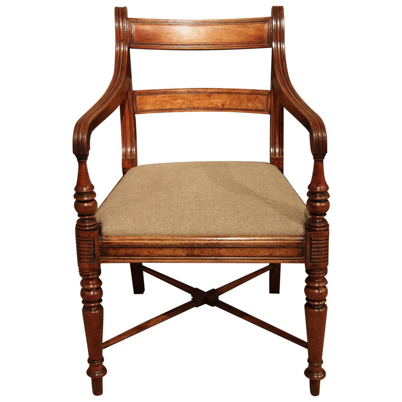 elbow chair stool bruno power lift parts george golden mahogany circa 1820 at 1stdibs