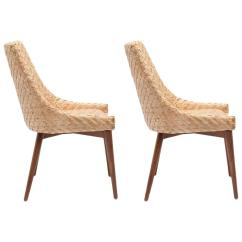 Sea Grass Chairs Hang Upside Down Chair Pair Of Modern Seagrass And Cherrywood For Sale At