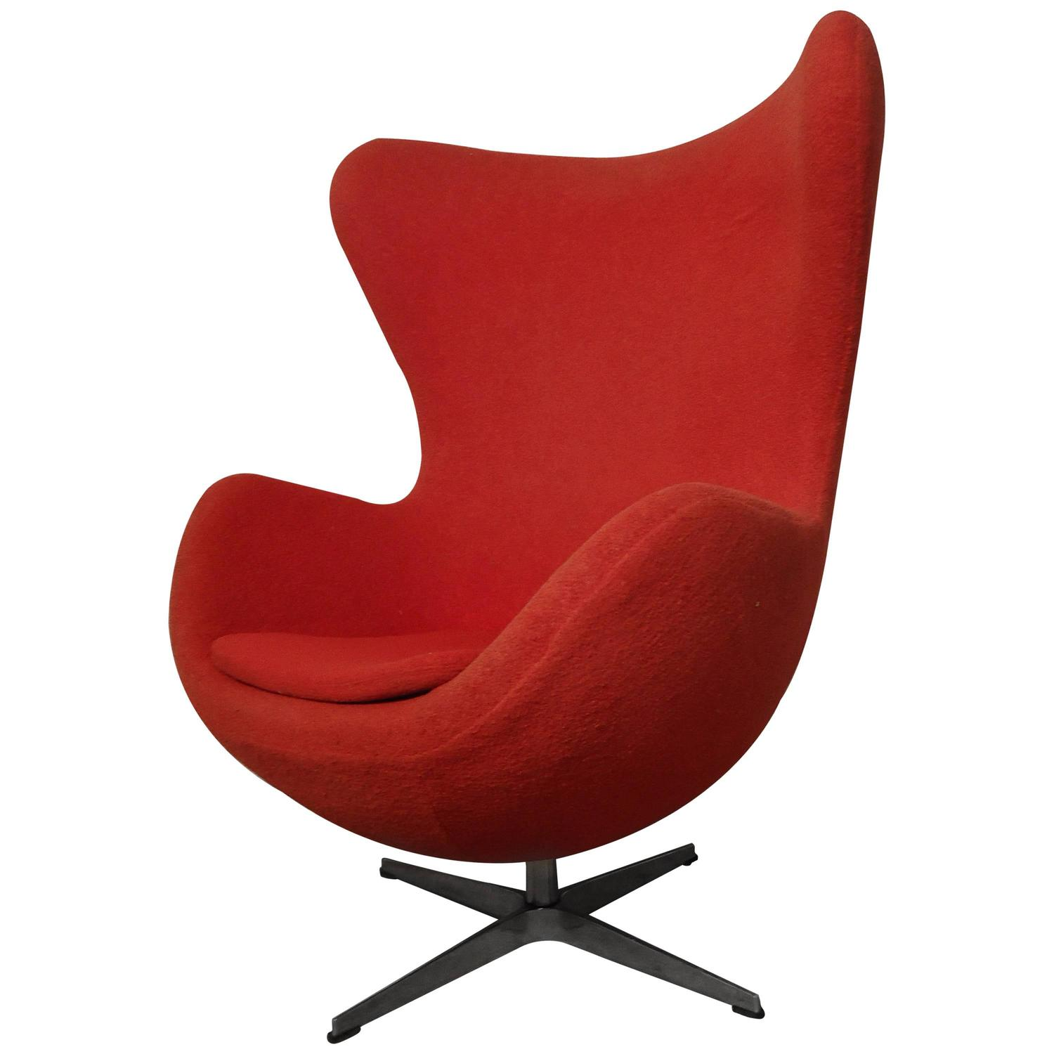mid century egg chair office warmer midcentury by arne jacobsen at 1stdibs