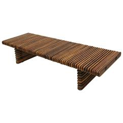 Isle Of Palms Beach Chair Company Camp With Table Pacific Green Palmwood D 39palm Slatted Bench Coffee