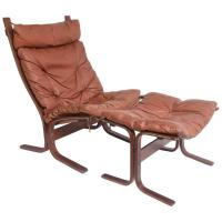 Mid-Century Danish Modern Rosewood and Leather Lounge ...
