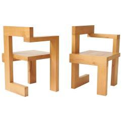 Gerrit Thomas Rietveld Chair Yellow Fabric Office Steltman Chairs At 1stdibs