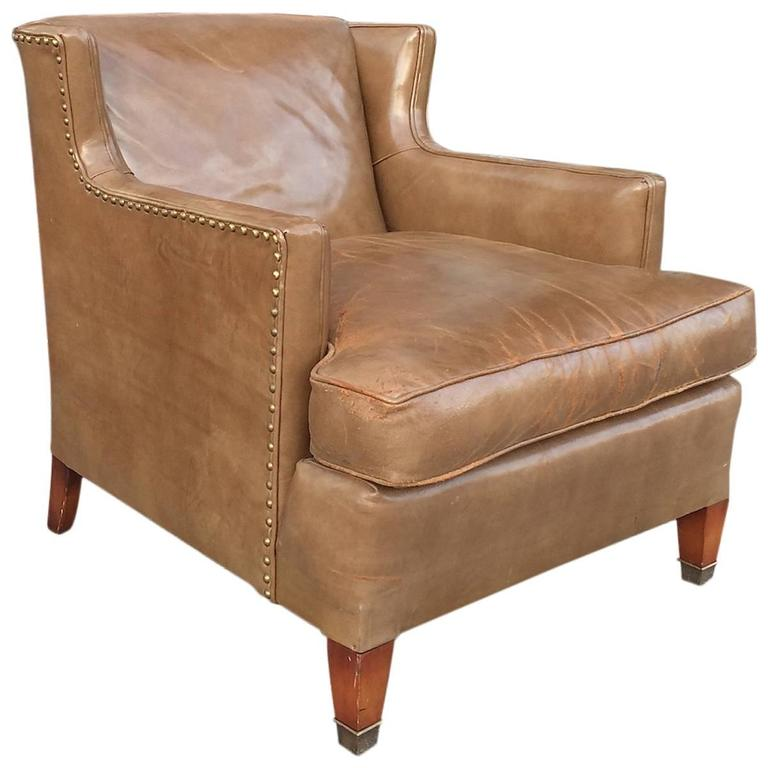 MidCentury Leather Club Chair by Hickory Chair Company