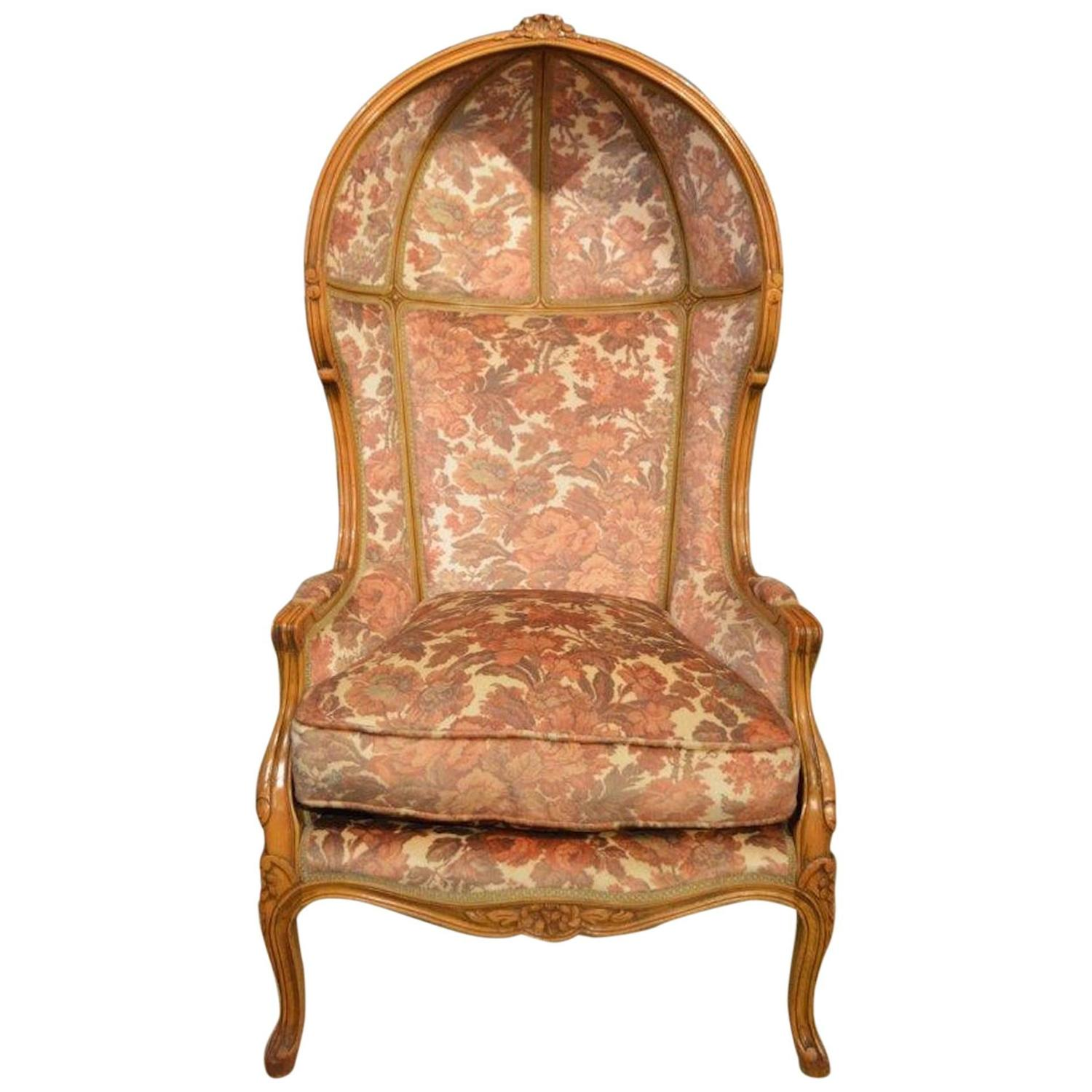 Hooded Chair Walnut French Antique Hooded Porters Chair At 1stdibs