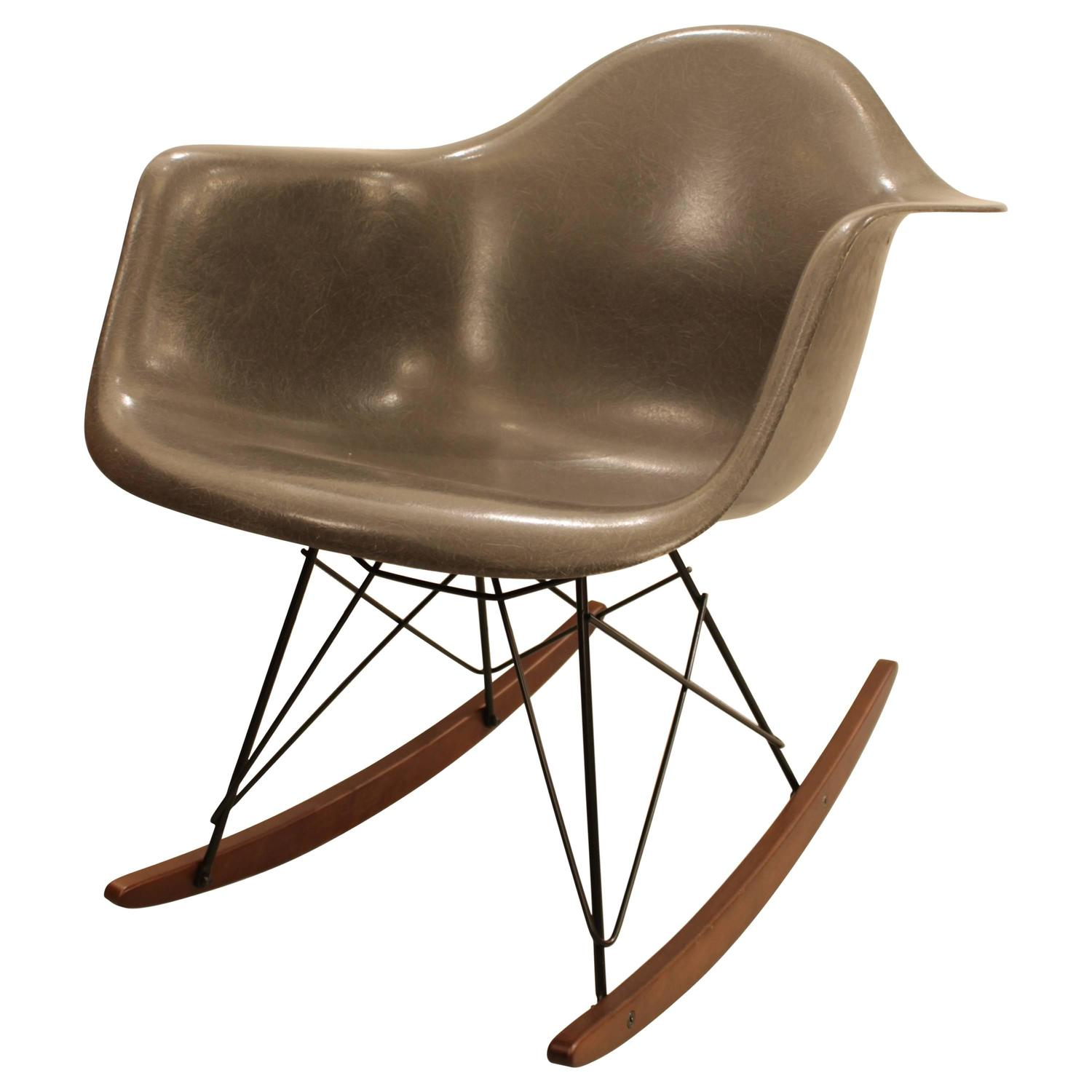 Grey Rocking Chair Charles Eames Rocking Chair Elephant Grey At 1stdibs