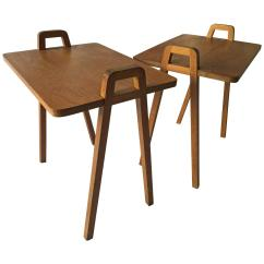 Unusual Chair Legs Ideas For Old Wooden Folding Chairs Pair Of Mid Century Oak Tray Style Tables With