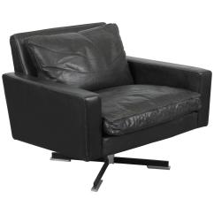 Leather Swivel Chair Uk Gumtree Mid Century Modern Black For Sale At