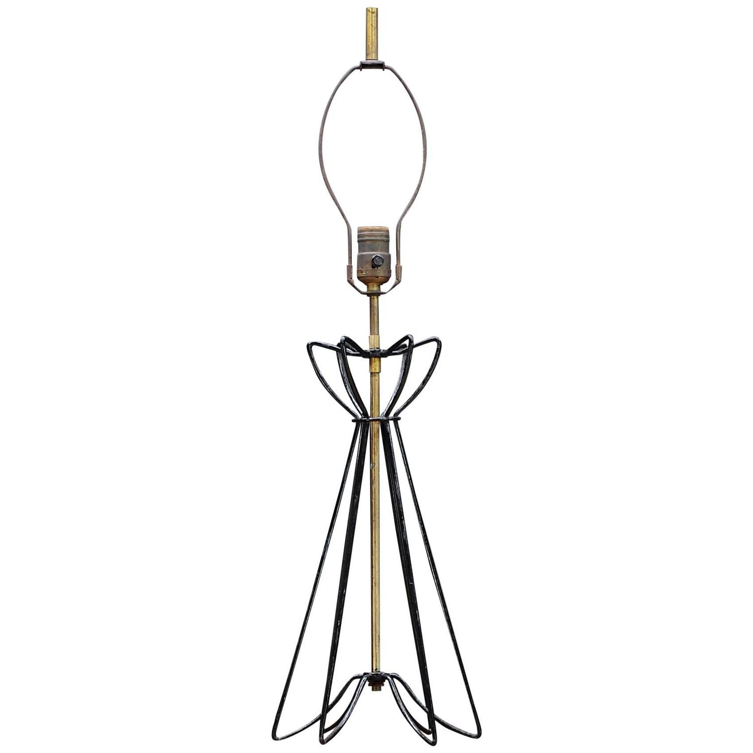 Ferris and Shacknove Modernist Bent Wire Table Lamp at 1stdibs