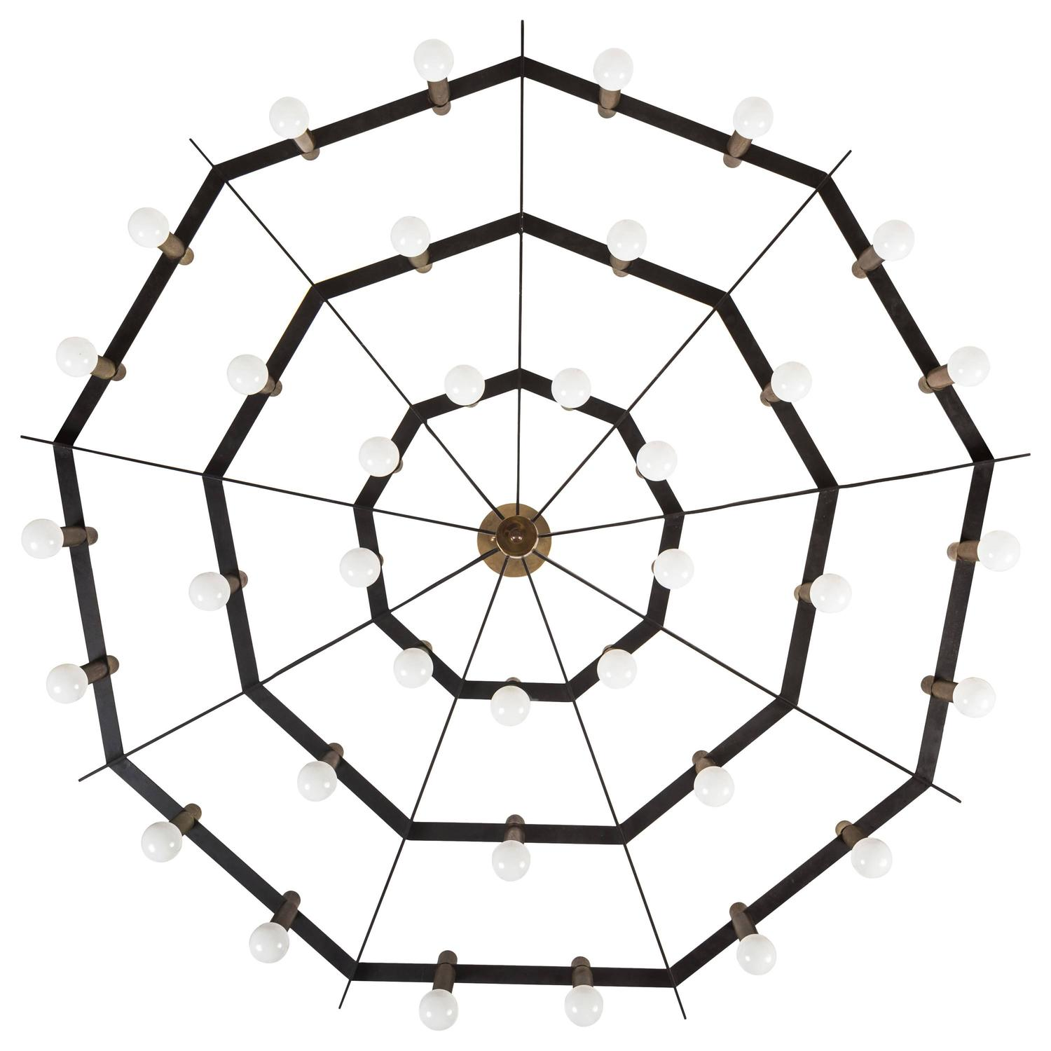 Rare Spiderweb Chandelier For Sale At 1stdibs