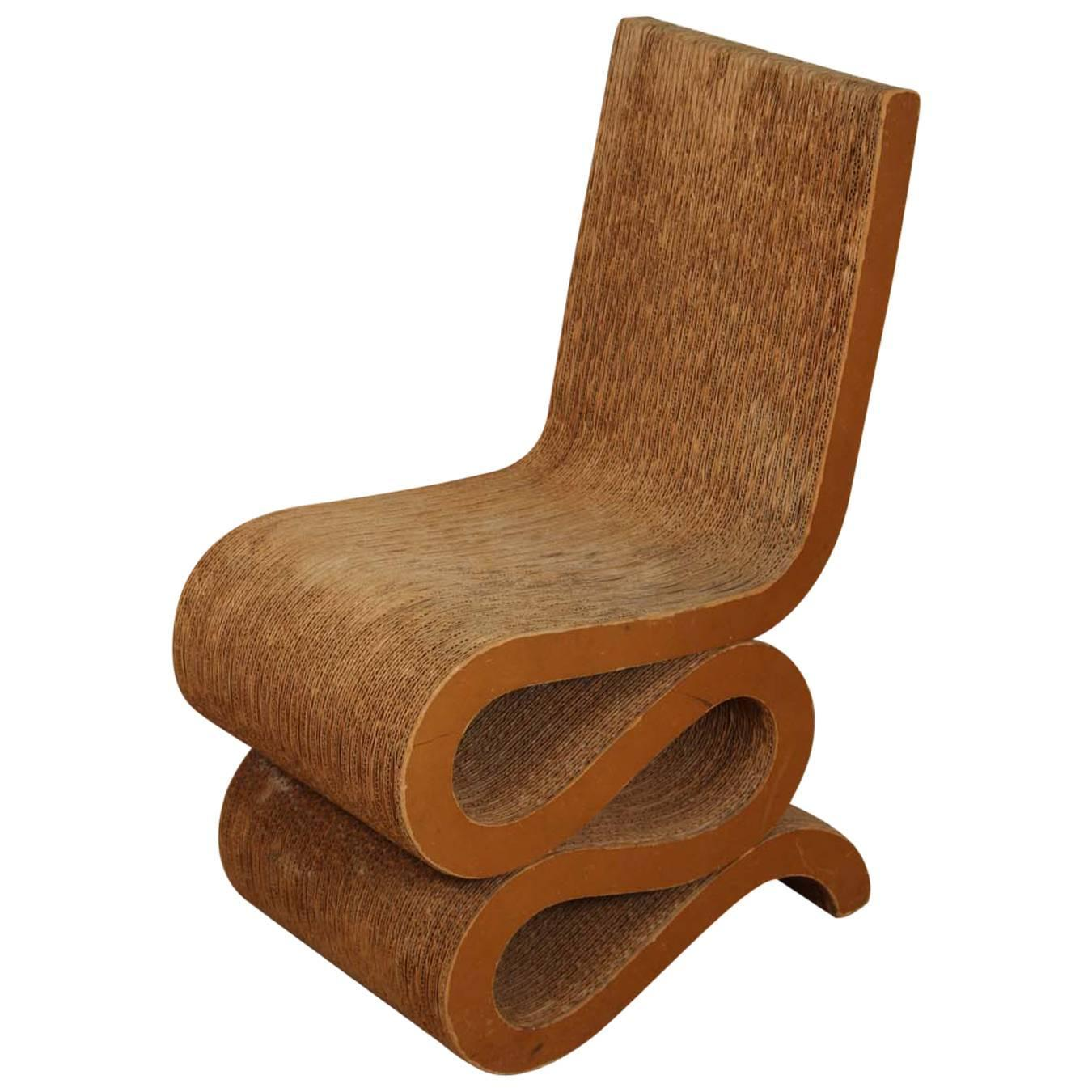 Cardboard Chair 1972 Frank Gehry Cardboard Quotwiggle Chair Quot At 1stdibs