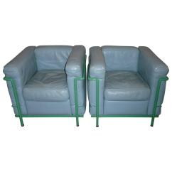 Corbusier Lounge Chair Sure Fit Wing Slipcovers Pair Of Le Chairs Lc2 Cassina For Sale At