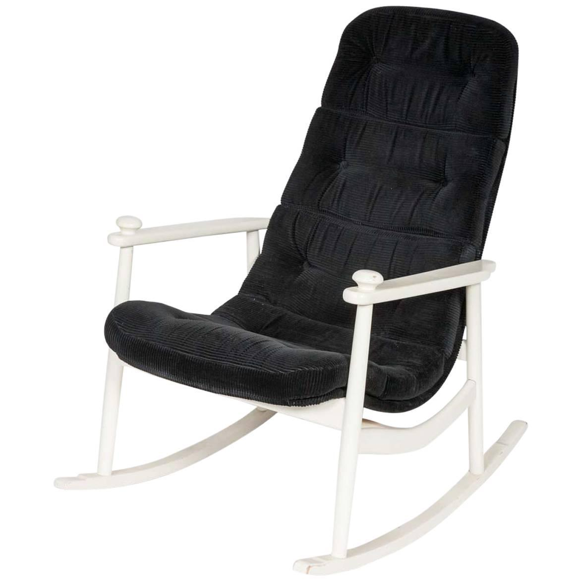 white upholstered rocking chair covers hire northern ireland frame at 1stdibs