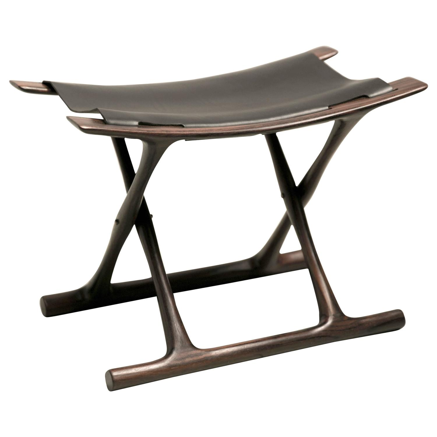 folding chair india klismos design egyptian stool in indian rosewood by ole wanscher